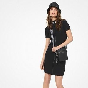 Michael Kors Ribbed Stretch Viscose ZIP-Up Dress